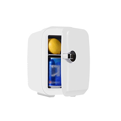 OUTHOME Mini Portable Car Home Refrigerator, Compact Personal Independent Cooler and Warmer, Cosmetic Refrigerator, AC/DC, with Handle