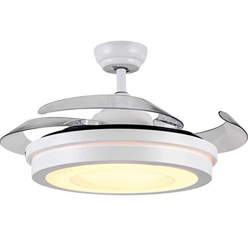 YANGQING Lámpara de araña de luz LED, lámpara de araña acrílica, apta para sala de estar, dormitorio, comedor, lámpara de techo telescópica [Clase energética A +],color: control de pared