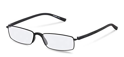 Gafas de lectura Rodenstock unisex R2640, gafas unisex con lentes antirreflejo de montura completa, gafas rectangulares con montura ligera de acero inoxidable, para la hipermetropía
