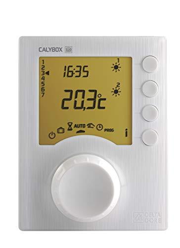 Delta Dore 6050392 CALYBOX 230 Gestor de energía de 1 a 3 zonas para solo hilo piloto de calefacción eléctrica, Blanco