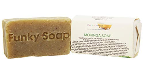 Funky Soap Afrikanische Moringa Seife 100% Natürlich Handgemacht, 1 Stück 65g