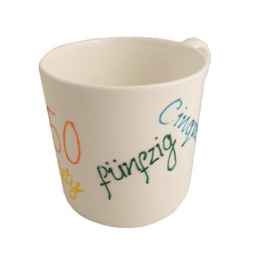 Cadeau de 50e anniversaire porcelaine fine anglaise (50th B'day China)