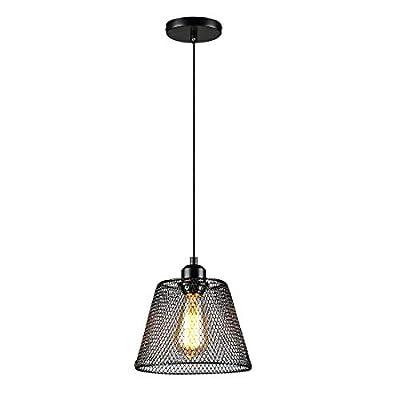 Black Industrial Pendant Light Fixture Industrial Pendant Lighting Adjustable Hanging Lights E26 E27 Base for for Kitchen Island, Restaurants, Hotel and Shops