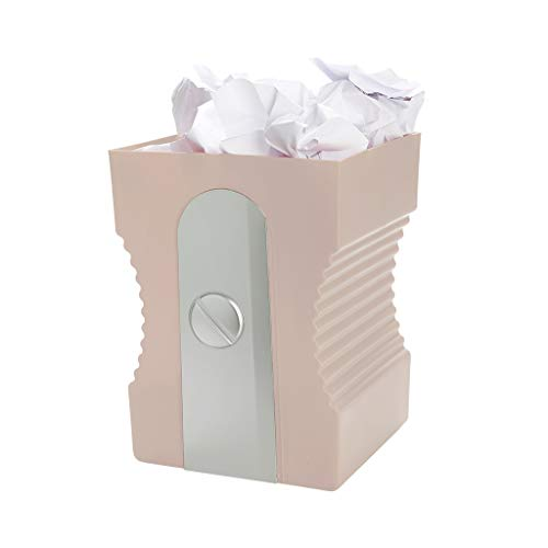 Balvi Papelera Sharpener Color Rosa Papelera de Reciclaje Complemento Ideal para tu Zona de Estudio o de Trabajo Plástico ABS/PP 29x21,5x21 cm