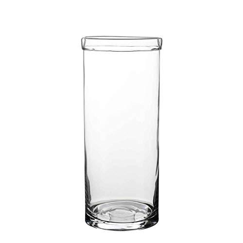 Casa Vivante Vaas Dante glas - 45 x Ø 19 cm
