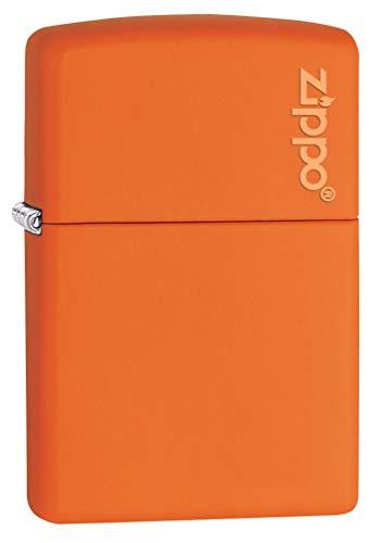 Zippo Matte Logo Lighter Orange - Pastilla de Encendido para Acampada