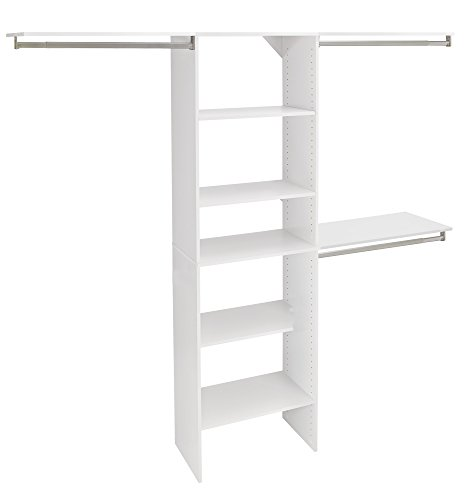 ClosetMaid SuiteSymphony Closet Organizer with Shelves, 25-Inch-Pure White