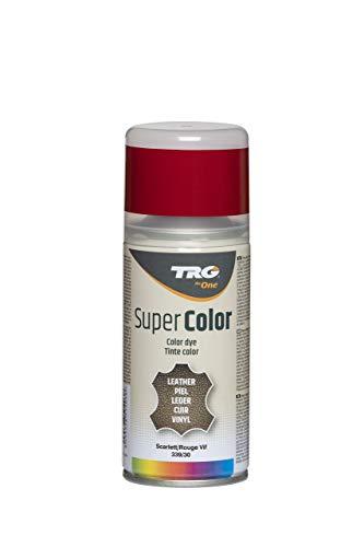 TRG The One - Tinte en Spray para calzado de Piel y Piel Sintética   Ideal para Restaurar o cambiar el color de Zapatos de Piel   Super Color #339 Rojo Vivo, 150ml