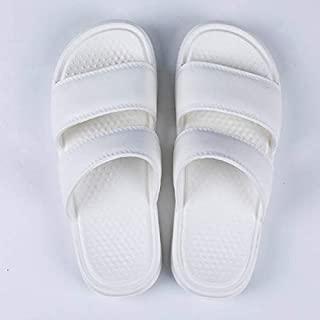 Mens Sandals Beach Flip Flops Bathroom Slippers Slides Soft Sole Slippers (Color : WHITE, Shoe Size : 39)
