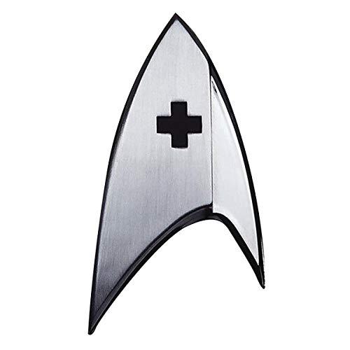 Quantum Mechanix Abysse Corp_BIJQMX004 Star Trek-Insignia Badge: Medical, Multi Colour