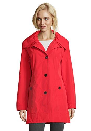 Betty Barclay 70381039 Damen Mantel mit Knöpfen Kapuze und Langarm Länge Mittel, Groesse 48, rot