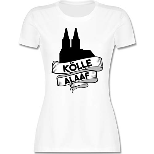 Karneval & Fasching - Kölle Alaaf Dom - XL - Weiß - köln t Shirt - L191 - Tailliertes Tshirt für Damen und Frauen T-Shirt