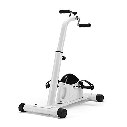 OUYA Ejercitador De Pedales De Bicicleta con Monitor LCD, Bicicleta Estática para Gimnasio En Casa, Bicicleta De Ciclismo para Entrenamiento De Piernas Y Brazos