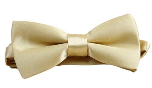 WS Kinderfliege KINDER FLIEGE uni verstellbar VIELE FARBEN (helles gold/champagner)