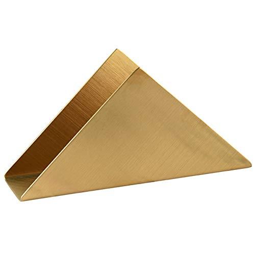 Dtoterul Portatovaglioli in Acciaio Inox Porta Tovaglioli da Tavola in Metallo Porta Tovaglioli Triangolo Porta Carta Portatovaglioli di Carta Supporto per Tovaglioli da Cucina per Tavola Oro
