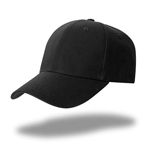 GWHOLE Kappe Schwarz Unisex Baseball Cap Verstellbar Baumwolle