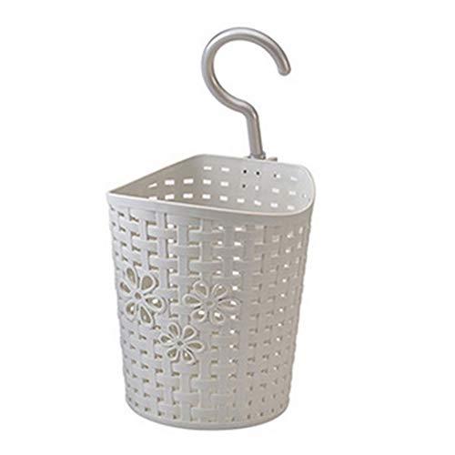 Weimay - Cesta colgante de plástico, para cocina, baño, almacenamiento, lavabo, cesta colgante, se conecta al jabón