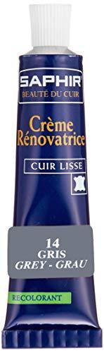 [Safir] Reno Hetze Farbe Reparaturcreme 25 ml Schuhe Tasche Kratzer verblasst Leder 9550851 Grau