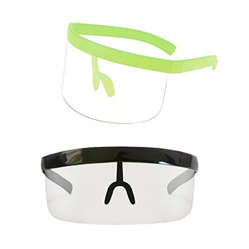 yotijar Gafas de Sol con Parte Plana Y Visera Extragrande de 2 Piezas - Negro + Verde