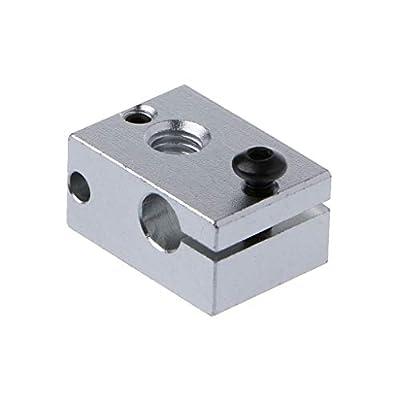 JENOR Heater Block compatible For V6 3D Extruder Hot End compatible For PT100 Sensor Cartridge