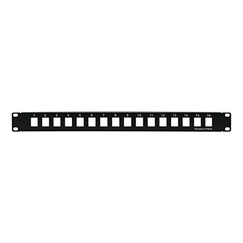 Beszin Blank Patch Panel for Keystone Jack Cat.5E, Cat.6 (16 Port)