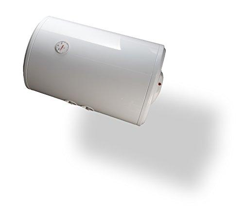 Bandini Braün SO-80 Scaldabagno Elettrico Cilindrico Orizzontale con Anodo di Magnesio e Valvola di Sicurezza, 1500 W, 230 V, Bianco, 80 litri