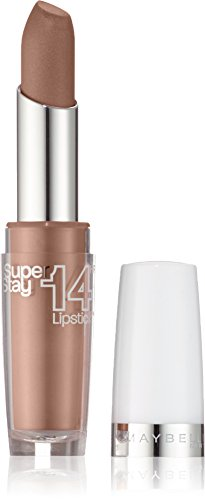 Maybelline New York Make-Up Lippenstift Superstay 14h Lipstick Beige For Good / Glänzendes...