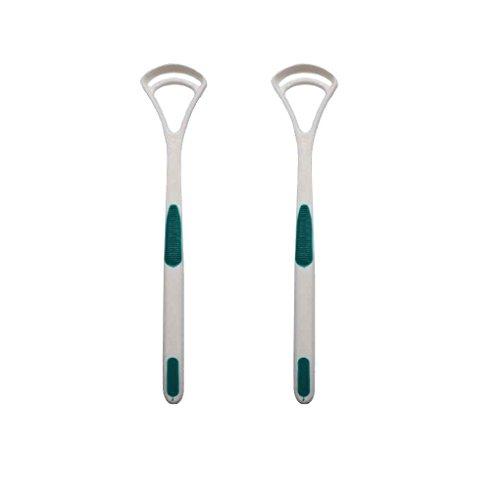 Yihaifu 2pcs / set Tongreiniger schrapers Scratch tongschraper Oral tong Coating Borstelen Tongreiniger willekeurige kleur