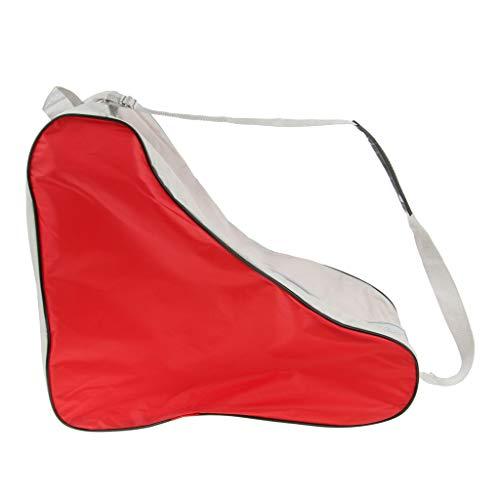 Sharplace Sac de Rangement pour Roller en Ligne Housse de Protection Chaussures Patinage - Rouge, 37x42x19cm