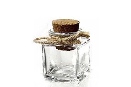 Gicos–Juego de 48Piezas frascos tapón de Corcho 5cm Cristal Especias bombonera CLI 715778