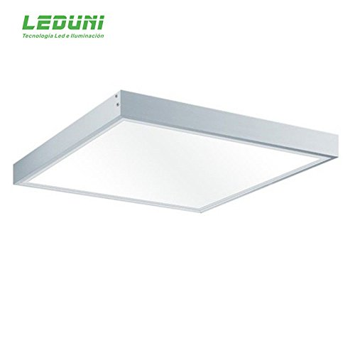 LEDUNI Kit Marco de superficie de Panel 60×60 Blanco Marco Panel LED Empotrable Kit de...