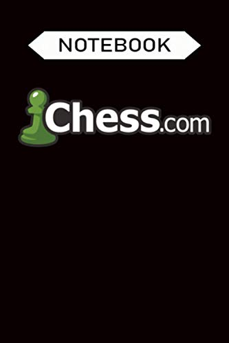 Notebook: Chess.com Classic Logo Online Chess Site Fan, Journal 6 x 9, 100 Page Blank Lined Paperback Journal Composition Notebook Diary