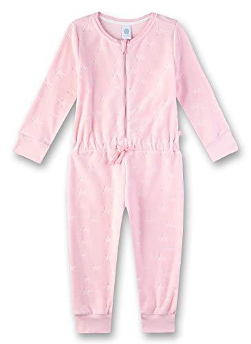 Sanetta Mädchen Jumpsuit Einteiliger Schlafanzug, Rosa (Rosarot 3532), 98 (Herstellergröße: 098)