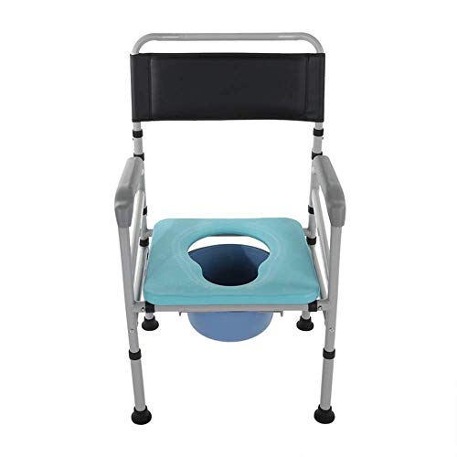 Multifunctionele opvouwbare nachtkastje commode stoel verstelbaar opvouwen zitten mobiele toiletstoel set