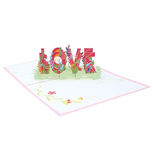 Laser Cut Origami Paper 3D Pop UP Cards with LOVE Greeting Post Cards Gift