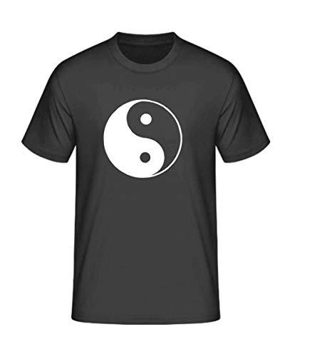 S.B.J - Sportland schweres Qualitäts T-Shirt Tai Chi/Ying Yang/Yinyang/Taiji, Farbe schwarz, Gr. 152