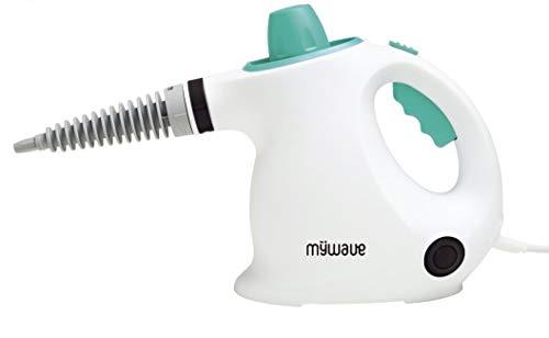 MyWave MWPS-LVA - Pulitore a vapore portatile, potenza 1000 W, con 9 accessori per una pulizia profonda