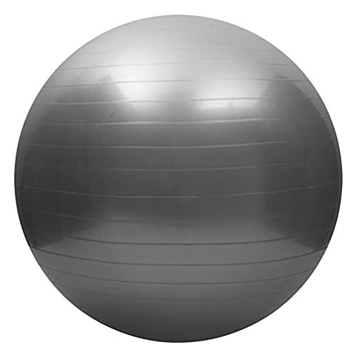 HDDFG 45cm Deportes Gimnasia de la Aptitud Bola de la Aptitud Bola de Yoga Pilates Equilibrio Bola de la Aptitud de Pilates Ejercicio de la Aptitud Bola de Masaje con la Bomba (Color : Silver)