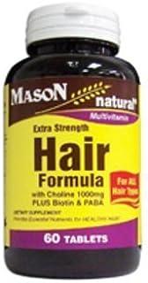 Mason Extra Strength Hair Formula/choline 1000mg PLUS Biotin and PABA 60 COUNT by Mason Natural