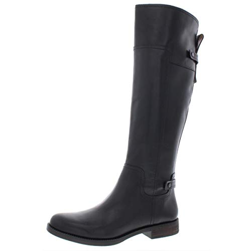 Franco Sarto Capitol Black Leather Riding Boot-Black-7.5-M