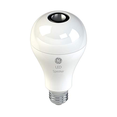 GE Lighting 93100352 LED Indoor A21, Bluetooth Enabled, Link up to 10 Units Speaker Light Bulb, 60-Watt Replacement, Soft White