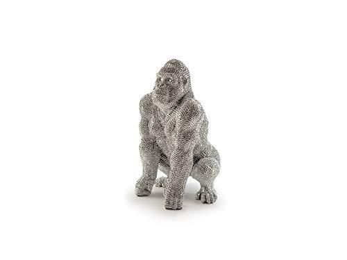 Schuller - Figuras Decorativas - Figura Gorila Pequeña Plata
