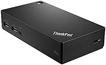 Lenovo ThinkPad USB 3.0 Pro Dock (40A70045US) 45W AC Adapter With 2 Pin Power Cord Included, Item Does Not Charge The Laptop Or Tablet When Attached