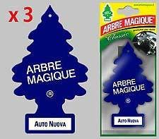 Arbre Magique Deodorante per Auto, Profumazione Prolungata fino a 7 Settimane (3 PEZZI, AUTO NUOVA)