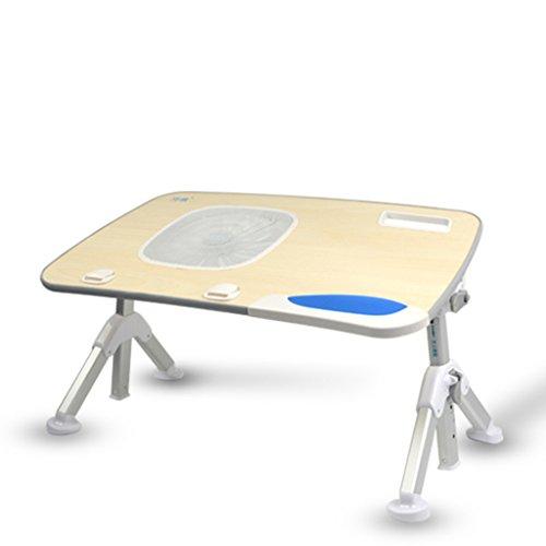 HNHX Escritorio Plegable for computadora portátil Escritorio for computadora con Ventilador Velocidad de enfriamiento hacia Arriba y hacia Abajo 300 Grados de rotación Cómoda Mesa de configuración de