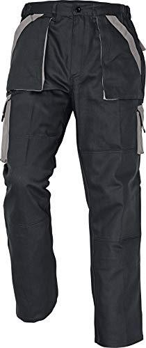 Stenso MAX - Herren Praktisch Arbeitshose Bundhose/Cargohose Baumwolle Schwarz/Grau 50