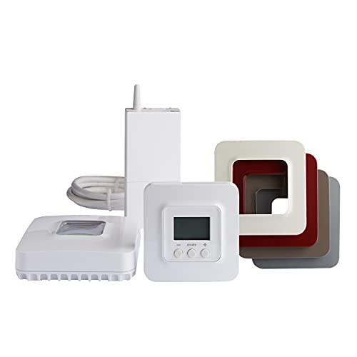 Delta Dore Thermostat sans fil connecté pour chaudière et pompe à chaleur avec box domotique Pack...