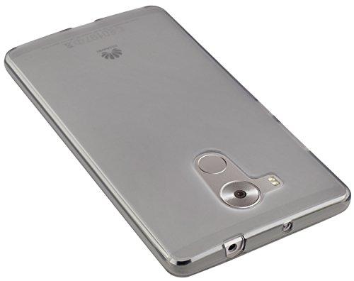 mumbi Hülle kompatibel mit Huawei Mate 8 Handy Case Handyhülle, transparent schwarz - 3