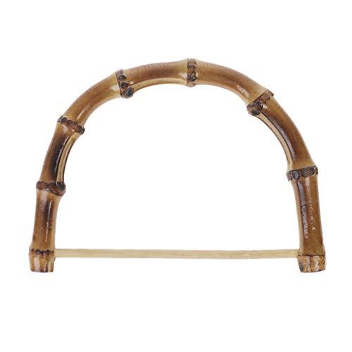 Yajiun - Asas para bolso de mano de bambú, asa de bambú para bolso de mano, carteras, bolso de bricolaje, cartera (NO.12, 1)