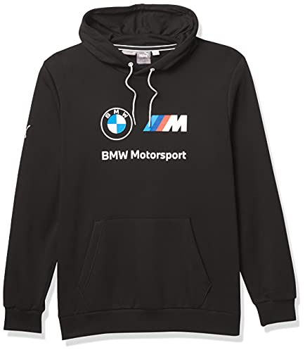 PUMA Men's Standard BMW MMS Essentials Fleece Hoodie, Black, Small